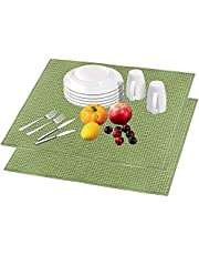 Microfiber Dish Drying Mat, 20 X 15 Inch Machine Washable Reversible Fast Drying Pad, Super Absorbent Dish Drainer Mat for Kitchen Counter-top Tabletop(Grey)
