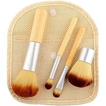 Fashion & Lifestyle Makeup Brush Set - Premium Synthetic Kabuki Beauty Tools Foundation Blending Blush Contour Concealer Eyeliner Face Powder Cosmetics Brushes Kit, Silver