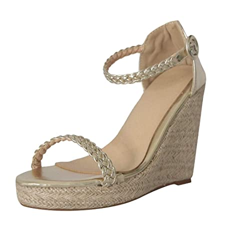 d3b90fdee5a96 Amazon.com: Women Wedges Sandals Open Toe High Heel Sandals Close ...