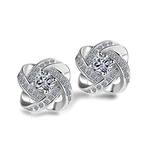 lanmpu-rhodium-plated-sterling-silver-twisted-edge-knot-stud-earrings-with-cubic-zirconia-for-women
