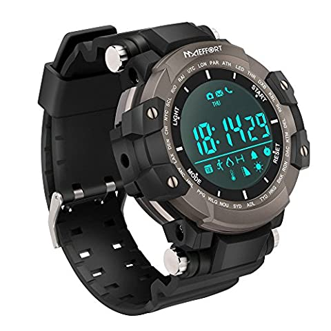 Maeffort Smart Watch, Outdoor Sport Watch Bluetooth Waterproof IP68 for HTC Sony Samsung LG Google Pixel Android Phones and iPhone 5 5S 6 6 Plus 7 Smartphones (Lg Sport Watch)