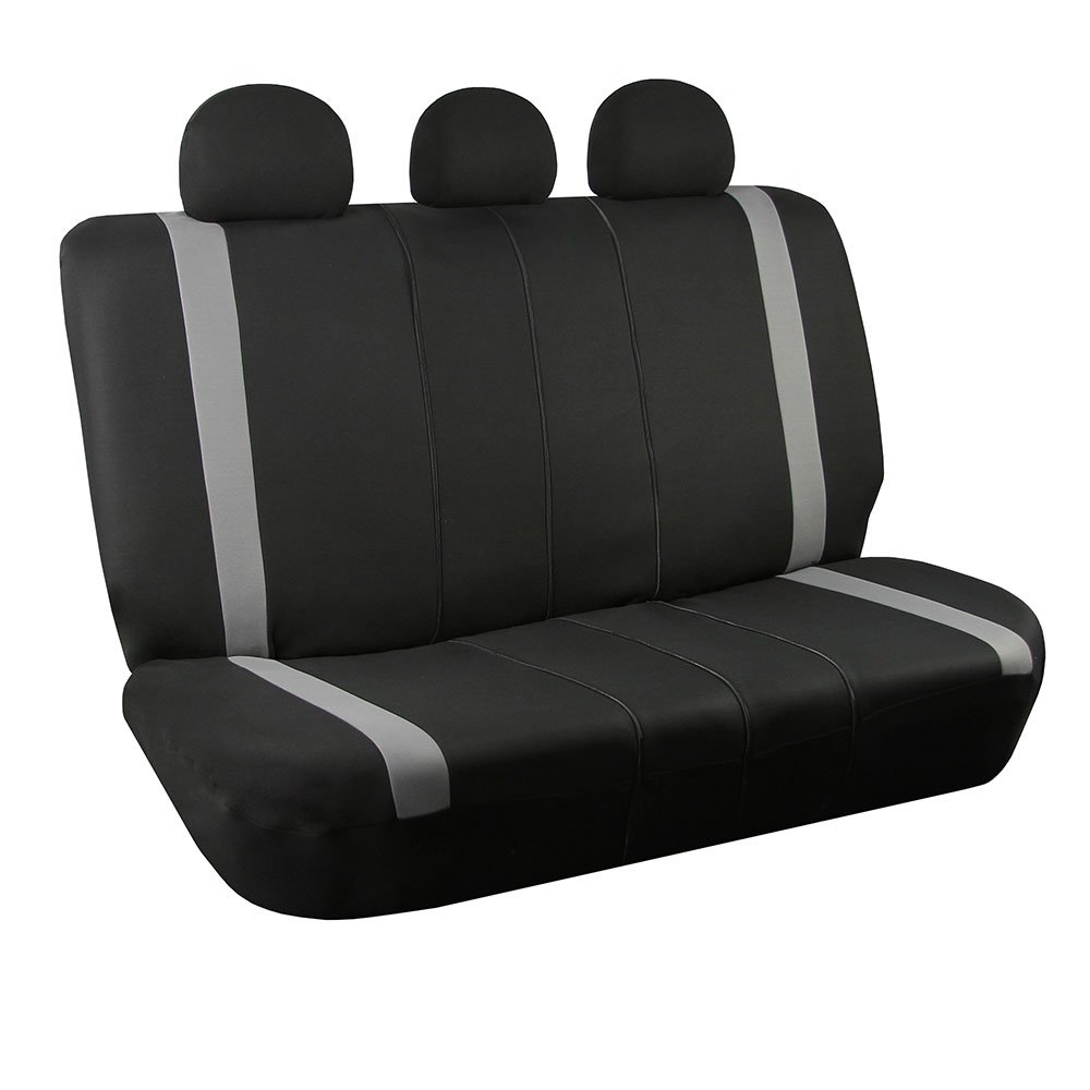 FH Group FB033GRAY013 Bench Seat Cover (Supreme Modernistic Split Compatible Gray)