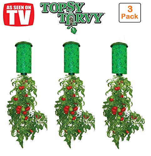 Topsy Turvy Upside-Down Tomato Planter (3-Pack) ()