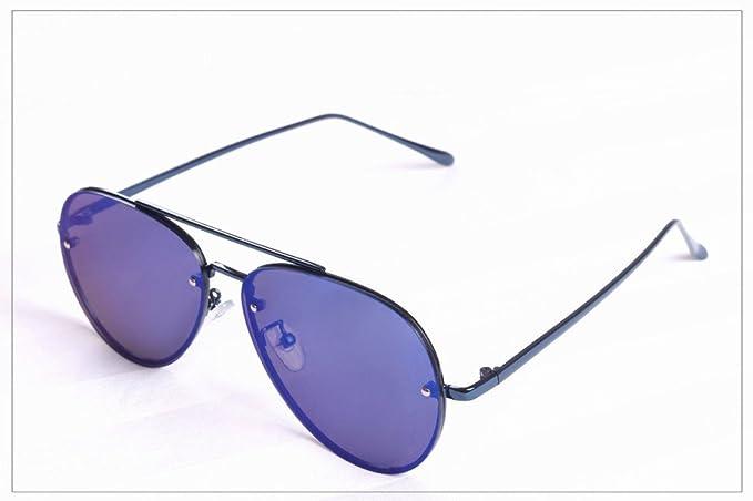 XW Weiche Outdoor-sonnenbrille Uv-sonnenbrille Augen Rund Gesicht Rahmenlose Fr?sche Spiegel,E,Konventionell
