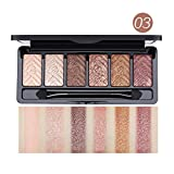6 Colors Eyeshadow Palette - Natural Shimmer Matte Eye Shadow Beauty Cosmetics for naked makeup and smoky makeup (C)