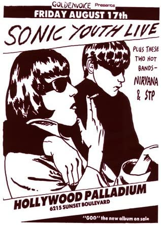 MUSIC CONCERT ADVERT SONIC YOUTH CAT/'S CRADLE USA FINE ART PRINT POSTER BB6781B