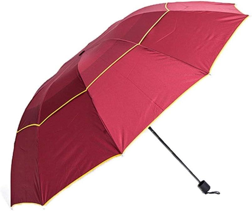 Yeer Folding Travel Umbrella Anti UV Rain Windproof Large Parasol Umbrella Sun Umbrella Color : Red