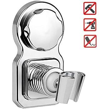 Attirant ICEBBANG Vacuum Suction Cup Shower Head Holder Shower Head Mount Wall Holder  Removable Handheld Shower Holder U0026 Bidet Sprayer Holder Shower Head Clip  Chrome