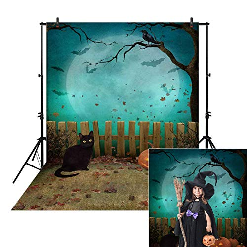 Halloween Party Photo Backdrop (Allenjoy 5x7ft Halloween Photo Backdrop for Newborn Photography Birthday Party Banner Decor Autumn Watercolor Pumpkin Fall Night Background Children Baby Shower Decoration Photography Photo Booth)