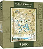 MasterPieces Xplorer Maps Jigsaw Puzzle, Yellowstone, National Park, 100% Made in USA, 1000 Pieces