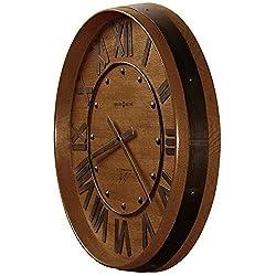 Wine Barrel 25Dia Wall Clock Heirloom Oak Dimensions: 4D X 25 Diameter Weight: 11 Lbs