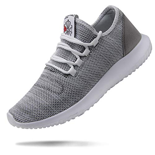 BomKinta Mens Sneakers Fashion Casual Running Shoes Soft Sole Breathable Athletic Shoes for Walking Gray Size 13