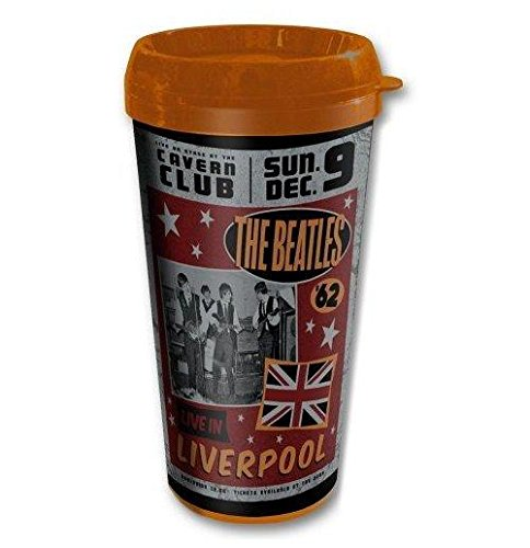 The Beatles Live In Liverpool Retro Thermal Travel Coffee Mug Vacuum Official