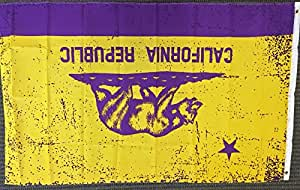 3x5 Purple and Gold California Flag State Republic CA Outdoor Garden Banner New