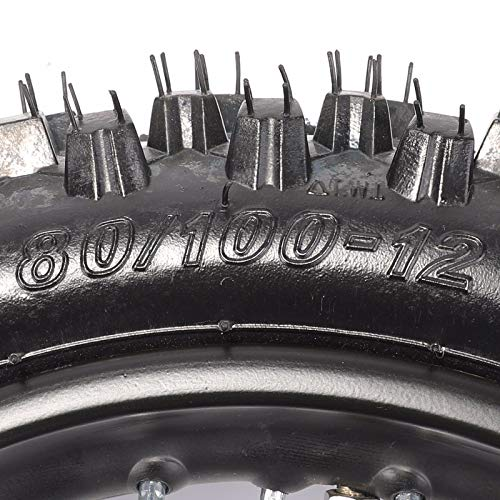 Rear 1.8512 80/100-12 Tire Rim Set Disc Brake 12mm Axle Pitpro Atomik DHZ by HML MOTOR (Image #3)