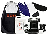 Sun Laboratories Sunless Spray Tan Machine - At Home Airbrush Tanning System with Tent, Dark Spray Tan Solution, Gloves + Sticky Feet Pads - Natural Sunless Airbrush , Body and Face for Bronzing