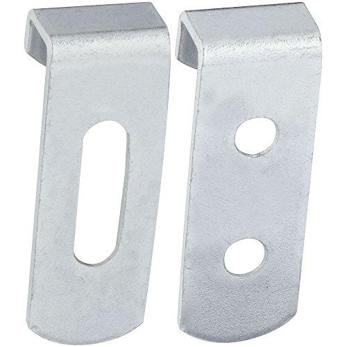 National Hardware N260-372 V2559 Hidden Mirror Holders in Zinc plated, 4 pack