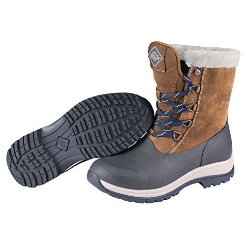 Mow Boot Womens Merletto Artico Metà Lontra Di Neve, Blu Marino / Nebbia