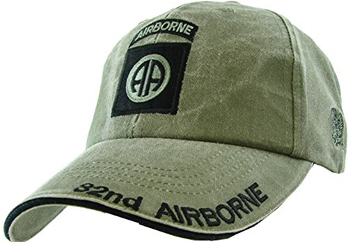 US Army 82nd Airborne OD Green Ball Cap (Soaring Eagle Embroidery)