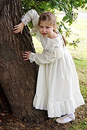 Vintage Style Children's Clothing: Girls, Boys, Baby, Toddler Victorian-Edwardian Day Dress-WW1-The Great War WHITE DRESS Fancy Dress Costume $45.00 AT vintagedancer.com