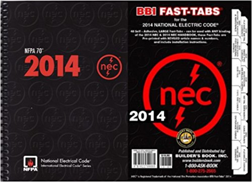 NFPA 70: National Electrical Code (NEC, Spiral Bound, with Fast Tabs, 2014, NFPA 70 by NFPA-BB