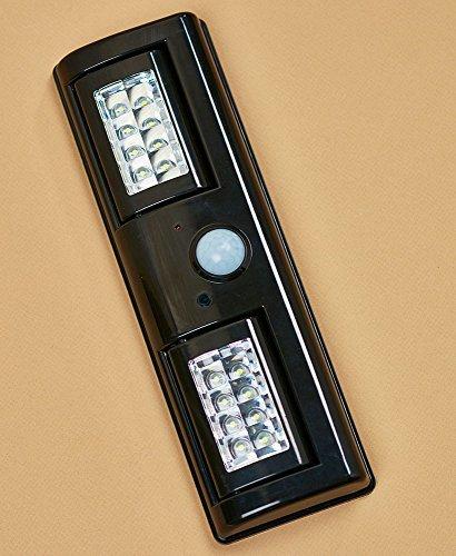 Adjustable Motion Sensor Black 16-LED Light