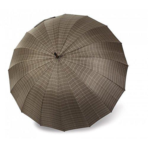 Paraguas Vogue de Hombre de 16 Varillas con protección Solar, antiviento y Acabado teflón. Mango de Madera.: Amazon.es: Equipaje