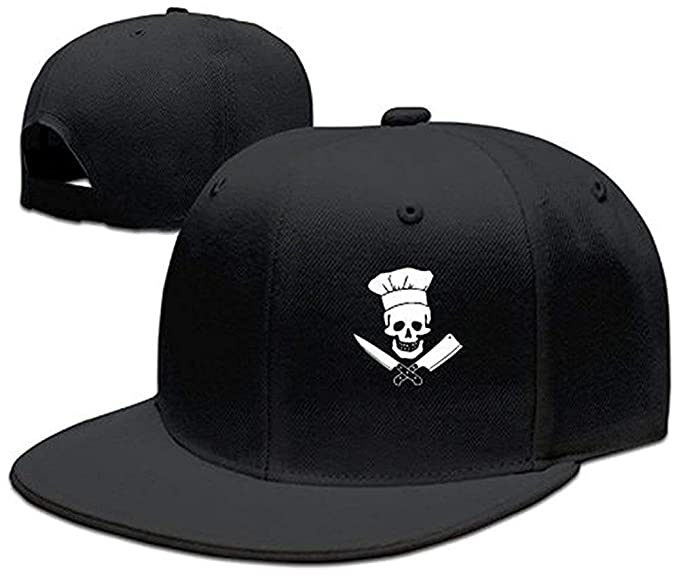 49e238d5329 Amazon.com  Fashion Cooking Skull Chef Mustache Unisex Skull Hat ...