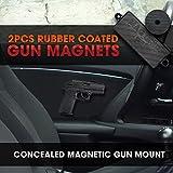 Perk MAG GRIP 2 Pack | Rubber Coated Gun Magnets | Includes BONUS Disc Magnet | Conveniently Mounts ANY Concealed Handgun ~ Shotguns ~ Magazines in Cars, Under Desk, Bedside | Gun Organizer