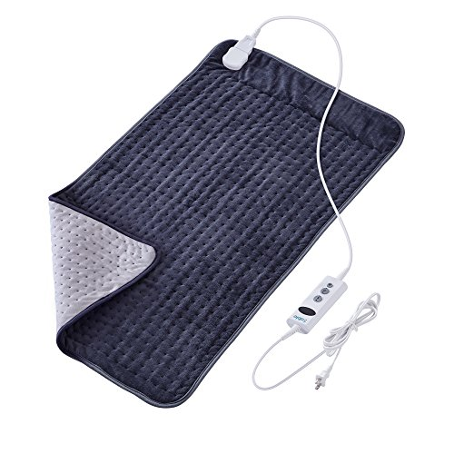 XXX-Large Heating Pad with Auto Off for Back Pain, FDA Registered, 10 Electric Temperature Settings, Super Soft Micro Plush, Moist Therapeutic Option, Relief for Neck Shoulder by Sable, 33'' x 17'' by Sable