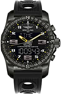 Breitling Cockpit B50 Black Titanium Men's Watch w/ Black Ocean Racer Rubber Strap VB5010A4/BD41-201S