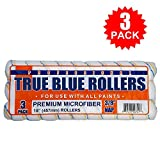 """True Blue Professional Paint Roller Covers, Best for All Types of Paint (3, 18"""" x 3/8"""")"""