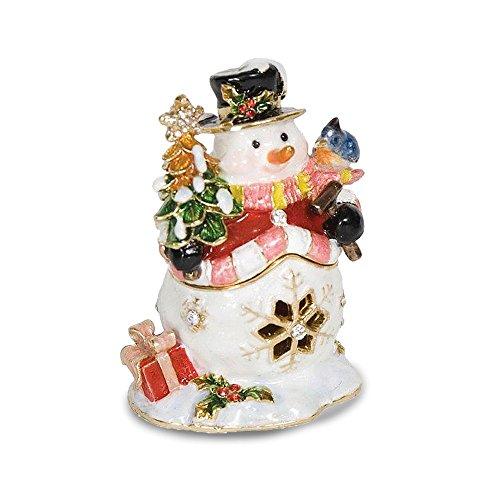 Pewter Jolly Snowman Trinket Box