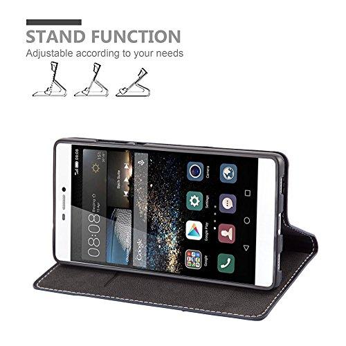 Cadorabo - Funda Estilo Book para >                                  Huawei ASCEND P8                                  < de Diseño gamuza-Artificial / Cuero-Artificial con Tarjetero, Función de Soporte y Cierre Magnético Invisible