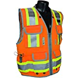 Radians SV55-2ZOD Class 2 Heavy Woven Two Tone Engineer High Visibility Vest (XL)