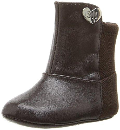 Stuart Weitzman Girls' Baby 5050-K Boot, Brown, 4 M US Toddler