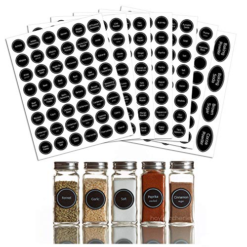Hayley Cherie - 320+ Printed Spice Jar and Pantry Label Set - Chalkboard 1.5