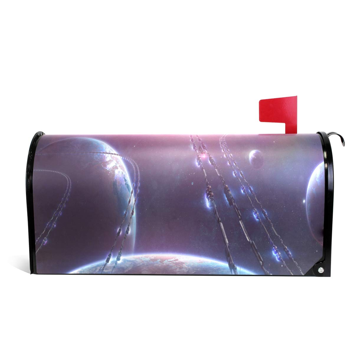 CHENG XIN Mailbox Cover Personalized Bright Light in Space Magnetic PVC Suitable for US Mailbox