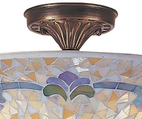 Amazon.com: Dale Tiffany tm100553 Johana mosaico Flush Mount ...