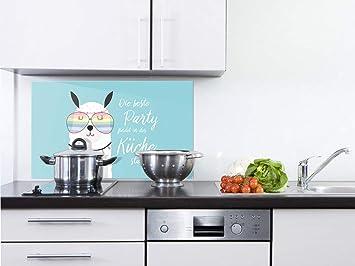 Grazdesign Glasruckwand Kuche Lustiges Motiv Ruckwand Kuche Turkis Kuchen Spritzschutz Herd Lustige Lama Kuchenruckwand Glas