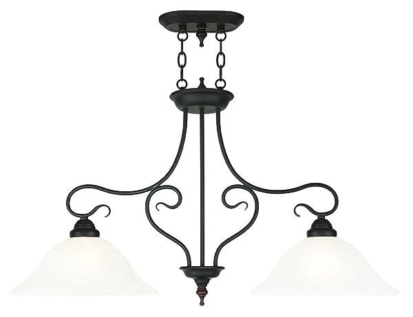 Livex Lighting Coronado Light Island Chandelier Bronze - 2 light island chandelier