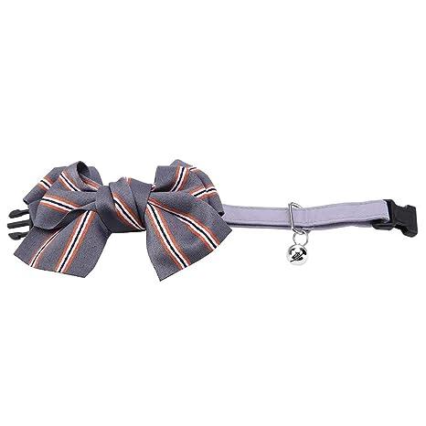 Pet Bow Tie Hecho a Mano Ajustable Mascota Collar Corbata a Rayas ...