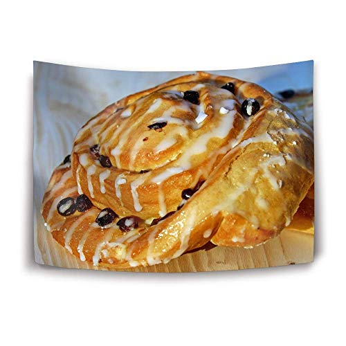 SINOVAL Bun Raisins Glaze Pastry Tapestry Wall Hanging Decor Home Tapestry for Dorms 60 x 40 -