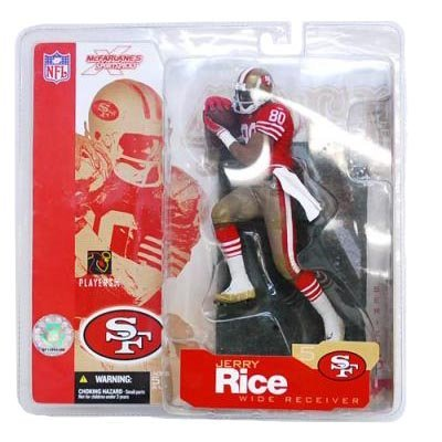 McFarlane Toys NFL Sports Picks Series 5 Action Figure Jerry Rice (San Fransisco 49ers) Red Jersey Retro Variant by Unknown