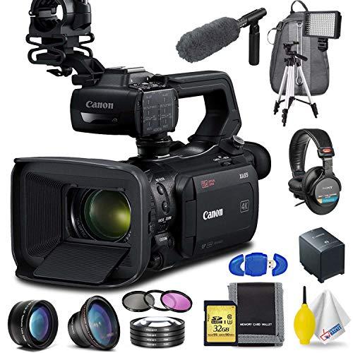 Canon XA55 Professional UHD 4K Camcorder Professional Accessory Bundle