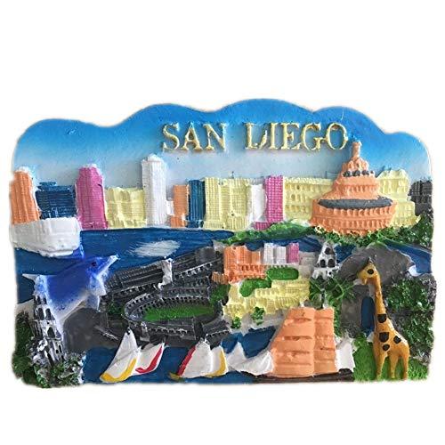 San Diego America USA Fridge Magnet 3D Resin Handmade Craft Tourist Travel City Souvenir Collection Letter Refrigerator Sticker -