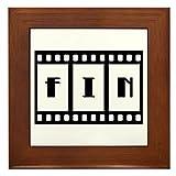 Framed Tile FIN: Old Hollywood Movie Ending