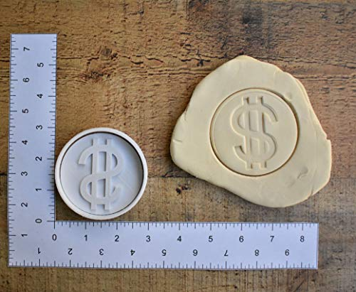 Dollar sign money cookie cutter 1007 fondant cutter ()