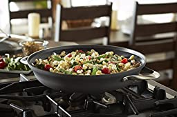 Calphalon Contemporary Hard-Anodized Aluminum Nonstick Cookware, Everyday Pan, 12-inch, Black