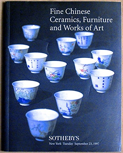 (Fine Chinese Ceramics, Furniture and Works of Art - September 23, 1997 - Sale)
